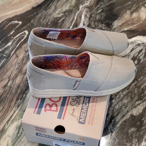 c194b831c16 Bobs by Skechers Memory Foam Taupe Wedges NWT